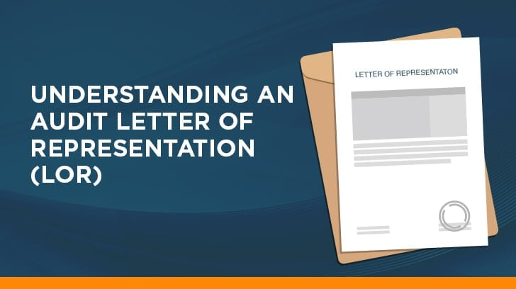 Understanding an audit letter of representation