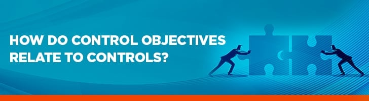 How do control objectives relate to controls?