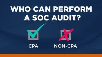 Who can perform a SOC audit?