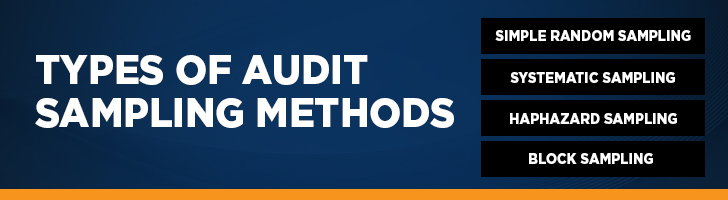 What are the types of audit sampling methods