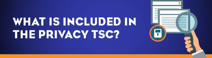 What's included in the privacy TSC?