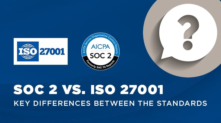 SOC 2 vs  ISO 27001 Certification: The Key Differences