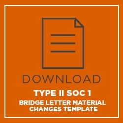 Download Type 2 SOC 1 Bridge Letter Template (Material Changes)