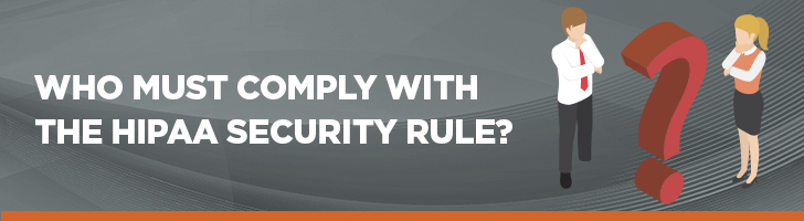 Who must comply with the HIPAA Security Rule
