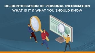 De-identification of personal data
