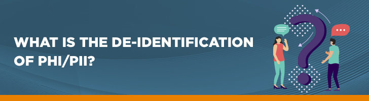 What is the de-identification of PHI/PII?