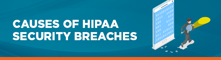 Causes of HIPAA security breaches