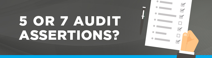 5 or 7 audit assertions