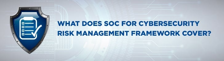 What does SOC for cybersecurity cover?