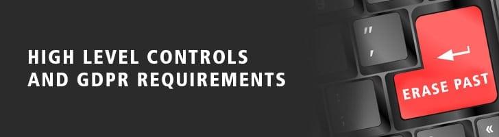 High level controls