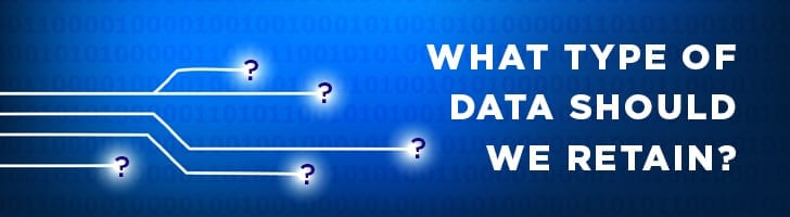 what type of data should we retain