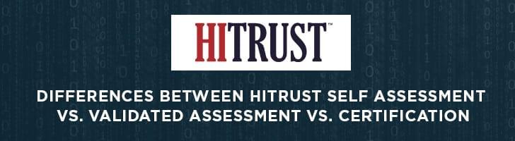 Hitrust self assessment vs. validated assessment vs. certification