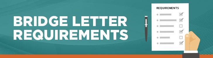 Bridge letter requirements
