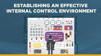 Establishing an internal control environment