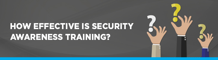 Effectiveness of security awareness training