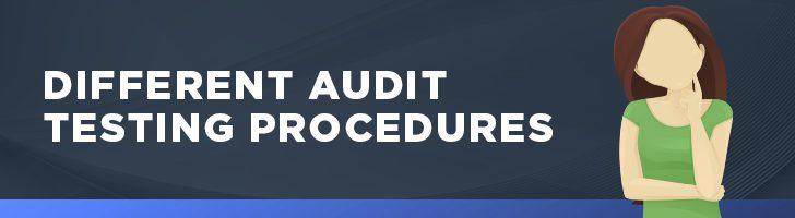Different audit testing procedures