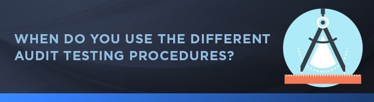 When to use the different testing procedures