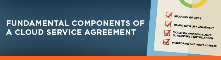 Components of cloud service agreement