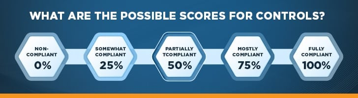 What are the possible scores for controls?