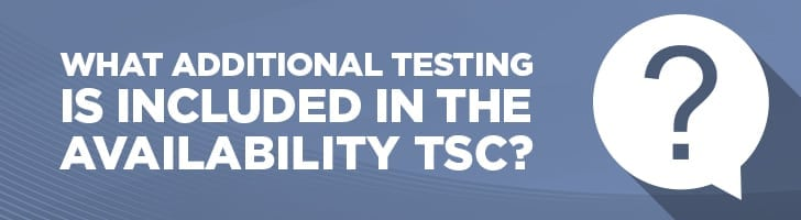 What additional testing is included in the availability TSC?