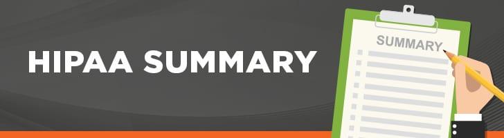 HIPAA Summary
