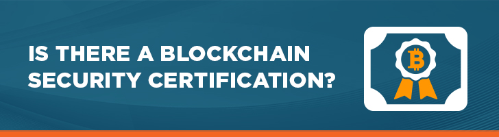 Blockchain security certification