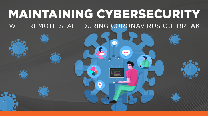 Cyber security work from home during coronavirus outbreak