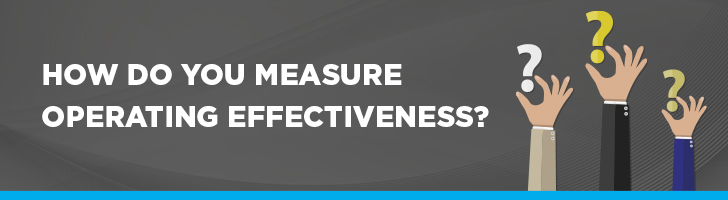 How do you measure operating effectiveness?