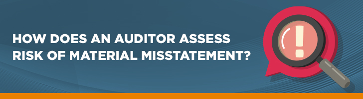 How does an auditor assess the risk of material misstatements