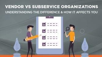 vendor vs subservice organization