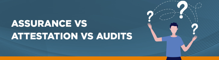 Assurance vs. attestation vs. audits
