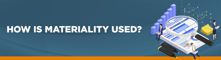 how is materiality used in auditing