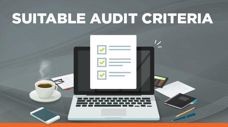 Suitable audit criteria