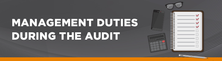 Management duties during audit