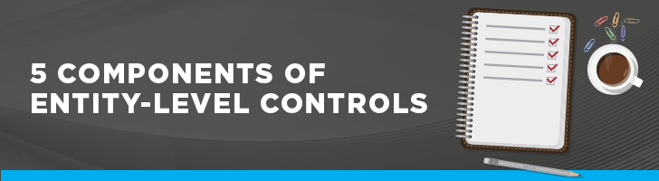 Five components of entity-level controls