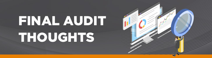 Final audit thoughts