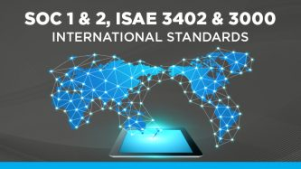 Performing SOC 1 and SOC 2 audit reports in accordance with International Standards (ISAE 3000 & 3402)