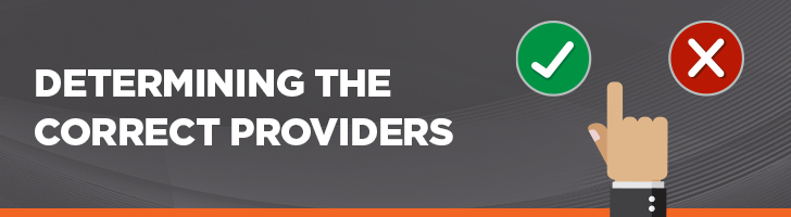 Determining the correct providers