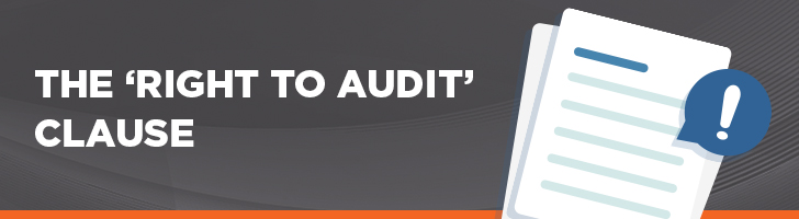 """The """"right to audit"""" clause"""