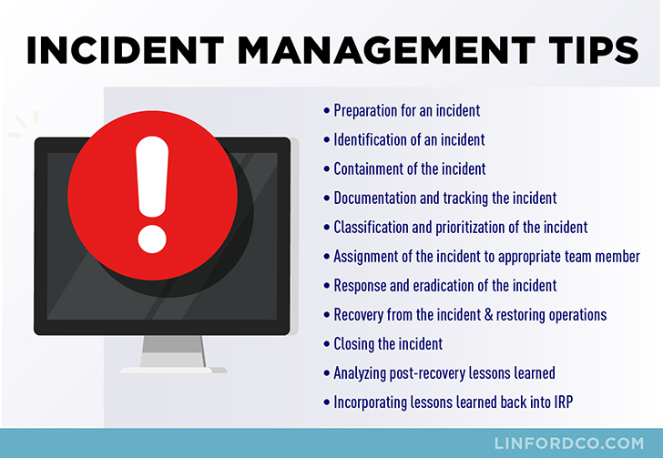 Incident Management Process Tips Infographic